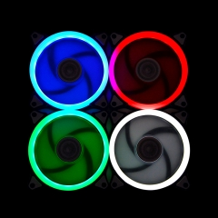 Syscooling Ultra quiet 120*120mm Colorful Aperture LED light Fan 3pin/4pin PC cooling DIY