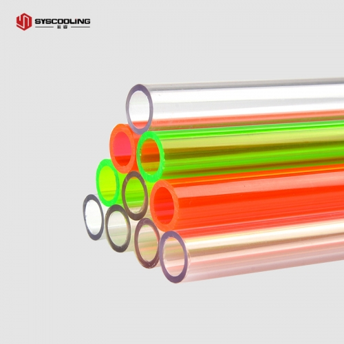 Syscooling color PETG tube outer diameter 14mm inner diameter 10mm high toughness good light transmittance split type hard pipe computer water cooling accessories