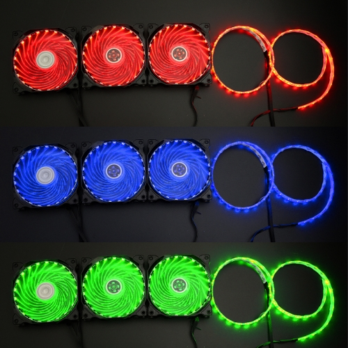Syscooling colorful control system with 3 120mm fans 21 lights
