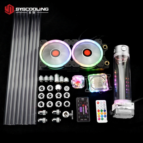 Syscooling PC water cooling kit for AMD AM4 ryzen CPU socket 240mm copper radiator RGB support